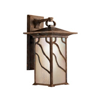 Kichler 9031DCO Morris 1 Light 15 inch Distressed Copper Outdoor Wall Lantern