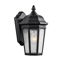 Kichler 9032BKT Courtyard 1 Light 11 inch Textured Black Outdoor Wall Lantern