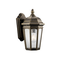 Kichler 9032RZ Courtyard 1 Light 11 inch Rubbed Bronze Outdoor Wall Lantern