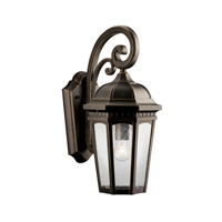 Kichler Lighting Courtyard 1 Light Outdoor Wall Lantern in Rubbed Bronze 9033RZ