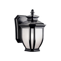 Kichler Lighting Salisbury 1 Light Outdoor Wall Lantern in Black (Painted) 9039BK