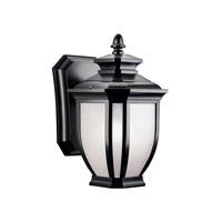 Kichler 9039BK Salisbury 1 Light 10 inch Black Outdoor Wall Lantern