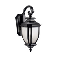 Kichler Lighting Salisbury 1 Light Outdoor Wall Lantern in Black 9040BK photo thumbnail