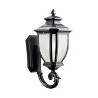 Kichler Lighting Salisbury 1 Light Outdoor Wall Lantern in Black (Painted) 9041BK