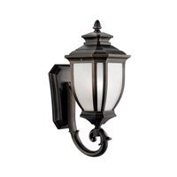 Kichler 9041RZ Salisbury 1 Light 19 inch Rubbed Bronze Outdoor Wall Lantern
