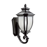 Kichler Lighting Salisbury 1 Light Outdoor Wall Lantern in Black (Painted) 9042BK