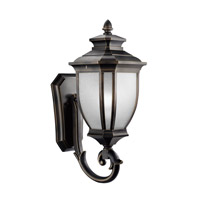 Kichler Lighting Salisbury 1 Light Outdoor Wall Lantern in Rubbed Bronze 9042RZ photo thumbnail