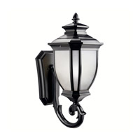 Kichler Lighting Salisbury 1 Light Outdoor Wall Lantern in Black 9043BK