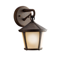 Kichler Lighting Melbern 1 Light Outdoor Wall Lantern in Aged Bronze 9051AGZ photo thumbnail