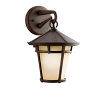 Kichler Lighting Melbern 1 Light Outdoor Wall Lantern in Aged Bronze 9052AGZ photo thumbnail