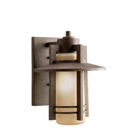 Kichler Lighting Creston 1 Light Outdoor Wall Lantern in Aged Bronze 9058AGZ photo thumbnail