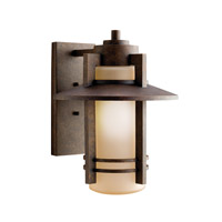 Kichler Lighting Creston 1 Light Outdoor Wall Lantern in Aged Bronze 9059AGZ photo thumbnail