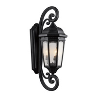 Kichler 9060BKT Courtyard 3 Light 41 inch Textured Black Outdoor Wall Lantern