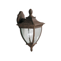 Kichler Lighting Amesbury 1 Light Outdoor Wall Lantern in Tannery Bronze w/ Gold Accent 9061TZG
