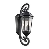Courtyard 4 Light 47 inch Textured Black Outdoor Wall - Xlarge