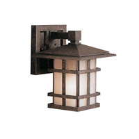 Kichler 9128AGZ Cross Creek 1 Light 9 inch Aged Bronze Outdoor Wall Lantern