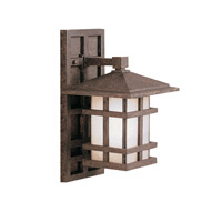 Kichler 9129AGZ Cross Creek 1 Light 14 inch Aged Bronze Outdoor Wall Lantern photo thumbnail