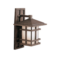 Kichler 9130AGZ Cross Creek 1 Light 16 inch Aged Bronze Outdoor Wall Lantern