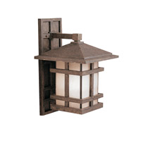 Kichler Lighting Cross Creek 1 Light Outdoor Wall Lantern in Aged Bronze 9131AGZ