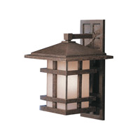 Kichler Lighting Cross Creek 1 Light Outdoor Wall Lantern in Aged Bronze 9132AGZ photo thumbnail