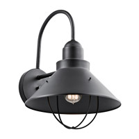 Seaside 1 Light 17 inch Black Outdoor Wall Mount