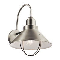 Kichler Seaside 1 Light Outdoor Wall Mount in Brushed Nickel 9142NI