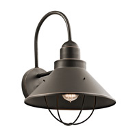 Kichler 9142OZ Seaside 1 Light 17 inch Olde Bronze Outdoor Wall Mount