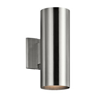Signature 2 Light 12 inch Brushed Aluminum Outdoor Wall Mount