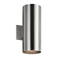 Signature 2 Light 15 inch Brushed Aluminum Outdoor Wall Mount