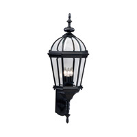 Kichler Lighting Trenton 3 Light Outdoor Wall Lantern in Black (Painted) 9252BK