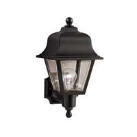 Kichler Lighting Outdoor Plastic Fixtures 1 Light Outdoor Wall Lantern in Black 9302BK photo thumbnail