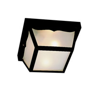 Kichler Lighting Outdoor Plastic Fixtures 1 Light Outdoor Flush Mount in Black 9320BK