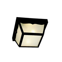 Kichler Lighting Outdoor Plastic Fixtures 2 Light Outdoor Flush Mount in Black 9322BK