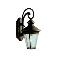 Kichler 9347OZ Eau Claire 1 Light 18 inch Olde Bronze Outdoor Wall Lantern