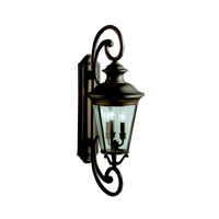 Kichler 9348OZ Eau Claire 3 Light 32 inch Olde Bronze Outdoor Wall Lantern