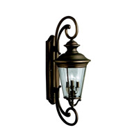 Kichler Lighting Eau Claire 4 Light Outdoor Wall Lantern in Olde Bronze 9349OZ photo thumbnail