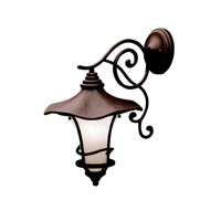 Kichler Lighting Cotswold 1 Light Outdoor Wall Lantern in Aged Bronze 9354AGZ