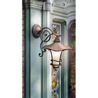 Kichler Lighting Cotswold 1 Light Outdoor Wall Lantern in Aged Bronze 9354AGZ alternative photo thumbnail