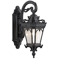 Kichler Lighting Tournai 1 Light Medium Outdoor Wall Lantern in Textured Black 9356BKT photo thumbnail