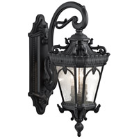 Kichler 9357BKT Tournai 2 Light 24 inch Textured Black Outdoor Wall Lantern