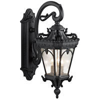 Tournai 3 Light 29 inch Textured Black Outdoor Wall Lantern