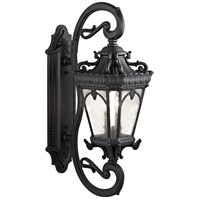 Kichler 9359BKT Tournai 4 Light 38 inch Textured Black Outdoor Wall Lantern