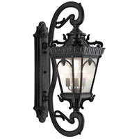 Kichler 9360BKT Tournai 4 Light 46 inch Textured Black Outdoor Wall Lantern