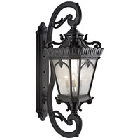 Tournai 5 Light 70 inch Textured Black Outdoor Wall Lantern