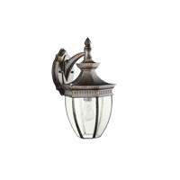 Kichler 9369TZ Warrington 1 Light 16 inch Tannery Bronze Outdoor Wall Lantern