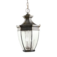 Kichler 9371TZ Warrington 3 Light 12 inch Tannery Bronze Outdoor Pendant