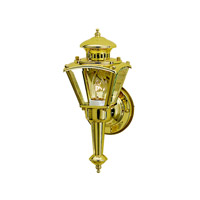 Kichler Lighting Signature 1 Light Outdoor Wall Lantern in Polished Brass 9401PB photo thumbnail