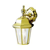 Grove Mill 1 Light 12 inch Polished Brass Outdoor Wall Lantern