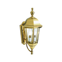 Kichler 9439PB Grove Mill 2 Light 20 inch Polished Brass Outdoor Wall Lantern