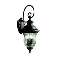 Kichler 9452OZ Sausalito 3 Light 24 inch Olde Bronze Outdoor Wall Lantern